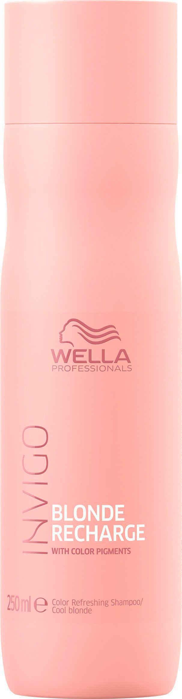 Wella Professionals Haarshampoo »Invigo Blonde Recharge Color Refreshing Shampoo Cool Blonde«, gegen Gelbstich