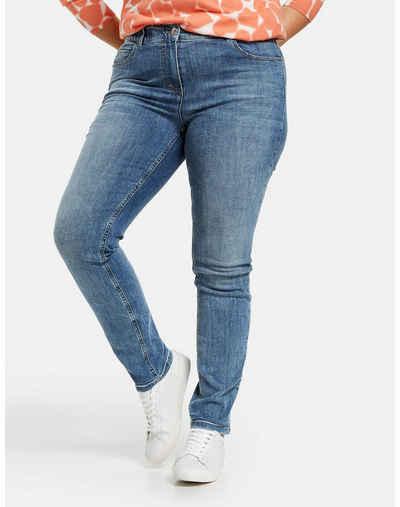 Samoon Stretch-Jeans »Betty Jeans mit dezentem Used-Effekt« (1-tlg) 5-Pocket
