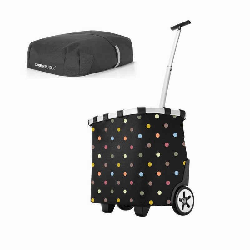 REISENTHEL® Einkaufstrolley »carrycruiser dots mit cover«, mit carrycruiser cover Abdeckung