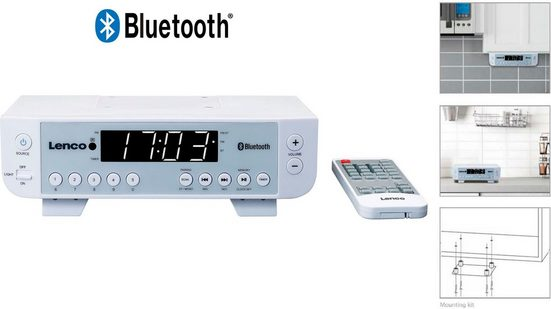 Lenco »KCR-100« Küchen-Radio (FM-Tuner, 2 W)