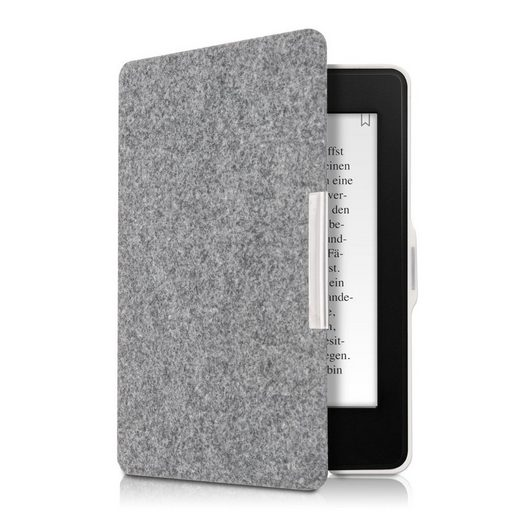 kwmobile E-Reader-Hülle, Hülle für Amazon Kindle Paperwhite - Filz Stoff eReader Schutzhülle - Flip Cover Case (für Modelle bis 2017)