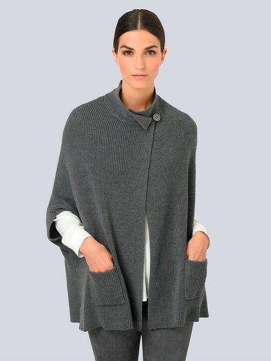 Alba Moda Strickjacke in modischer Cape-Form