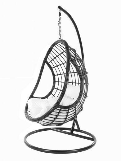 KIDEO Hängesessel »PALMANOVA black«, Swing Chair, schwarz, Loungemöbel, Hängesessel mit Gestell und Kissen, Schwebesessel, edles Design