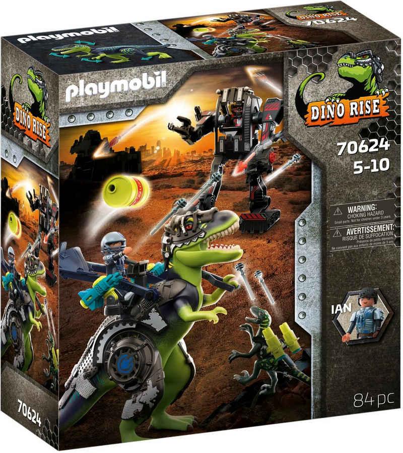 Playmobil® Konstruktions-Spielset »T-Rex - Kampf der Giganten (70624), Dino Rise«, (84 St), Made in Europe