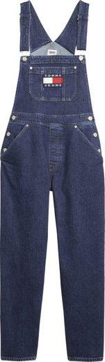 TOMMY JEANS Latzjeans »DUNGAREE OLDBCF« mit verstellbaren Trägern & Tommy Jeans Logo-Badge