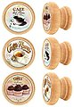 Lashuma Möbelgriff »Café« (Set, 6-St), Runde Möbelgriffe aus Holz, Knäufe mit Kaffee-Motiven Ø 4 cm, Bild 1