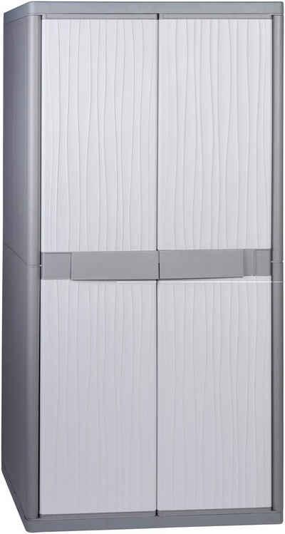 Kreher Stauraumschrank »XL Jumbo« B/T/H: 89,7x53,7x180 cm, abschließbar, mit 4 Böden und Riegel