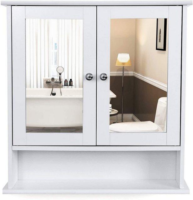 Spiegel - VASAGLE Badezimmerspiegelschrank »LHC002« Badschrank, Hängeschrank, weiß  - Onlineshop OTTO