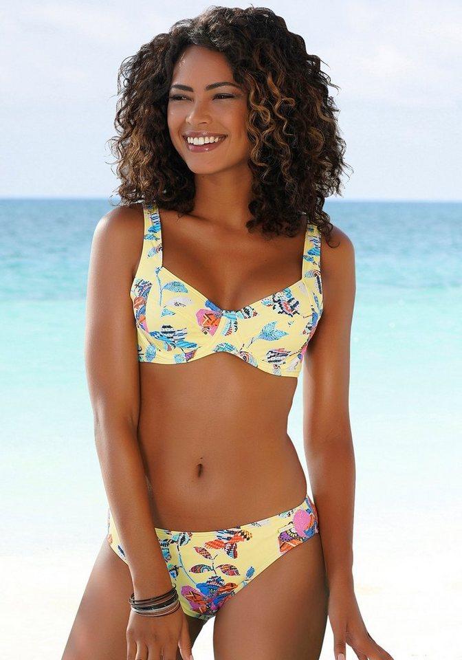 Bademode - Sunseeker Bikini Hose »Jam«, mit Alloverprint › gelb  - Onlineshop OTTO