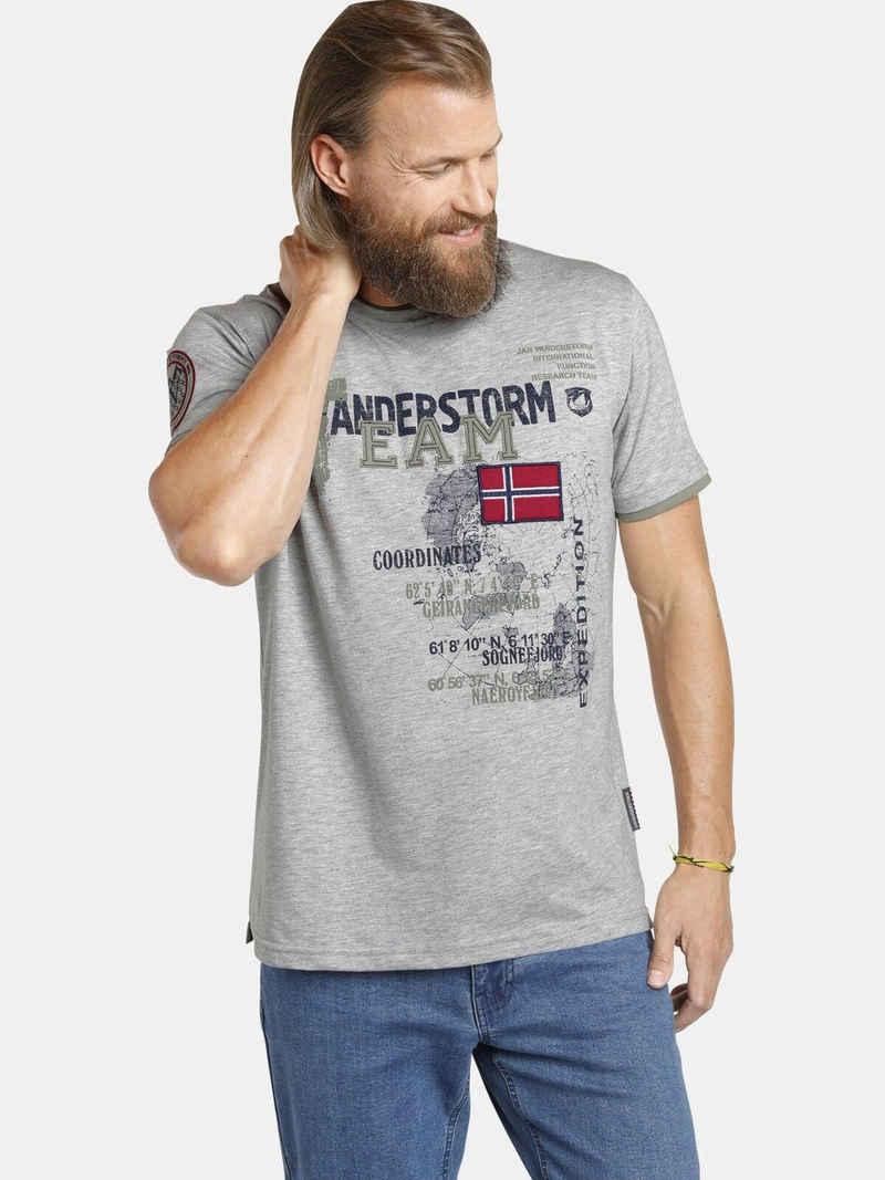 Jan Vanderstorm T-Shirt »SÖLVE« robuster Baumwolljersey