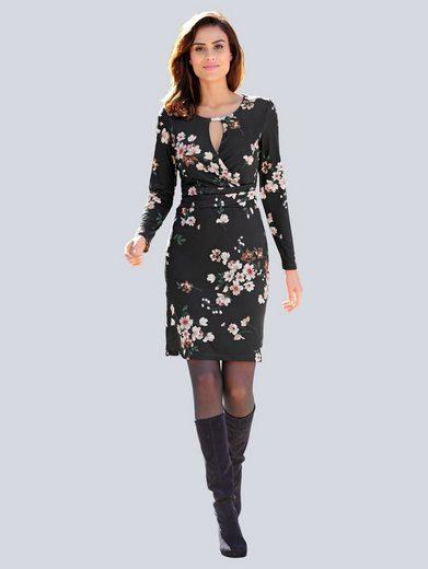 Alba Moda Kleid im farbharmonischem Blumendruck allover