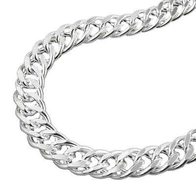 Gallay Kette ohne Anhänger »Kette 6mm Zwillingspanzerkette Silber 925 42cm« (inkl. Schmuckstein), Silberschmuck für Damen