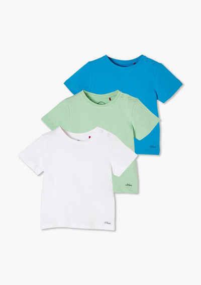s.Oliver Langarmshirt »3er-Pack T-Shirts aus Jersey« (1-tlg)