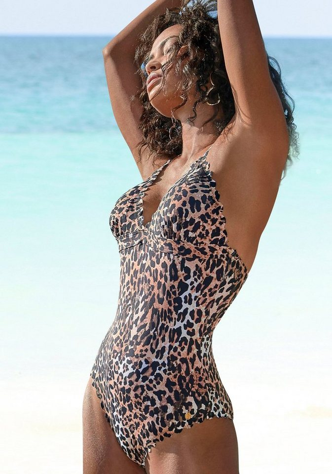 lascana -  Badeanzug »Lexa«, mit gelaserter Wellenkante