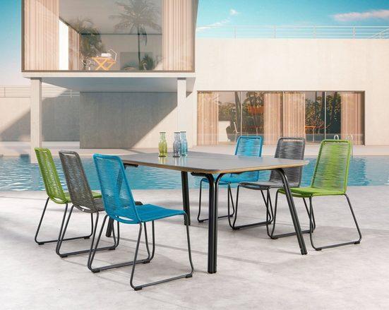 BEST Gartenmöbelset »Symi«, 7-tlg., 6 Sessel, Tisch 180x100 cm