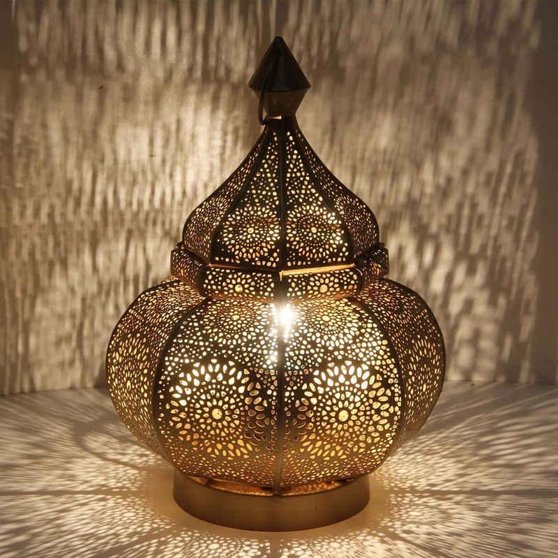 Casa Moro Nachttischlampe »Orientalische Tischlampe Gohar Höhe 30 cm in Antik-Gold-Look E14 Fassung, Nachttischlampe aus Metall wie aus 1001 Nacht, Schöne Weihnachtsbeleuchtung Dekoration, LN2090«