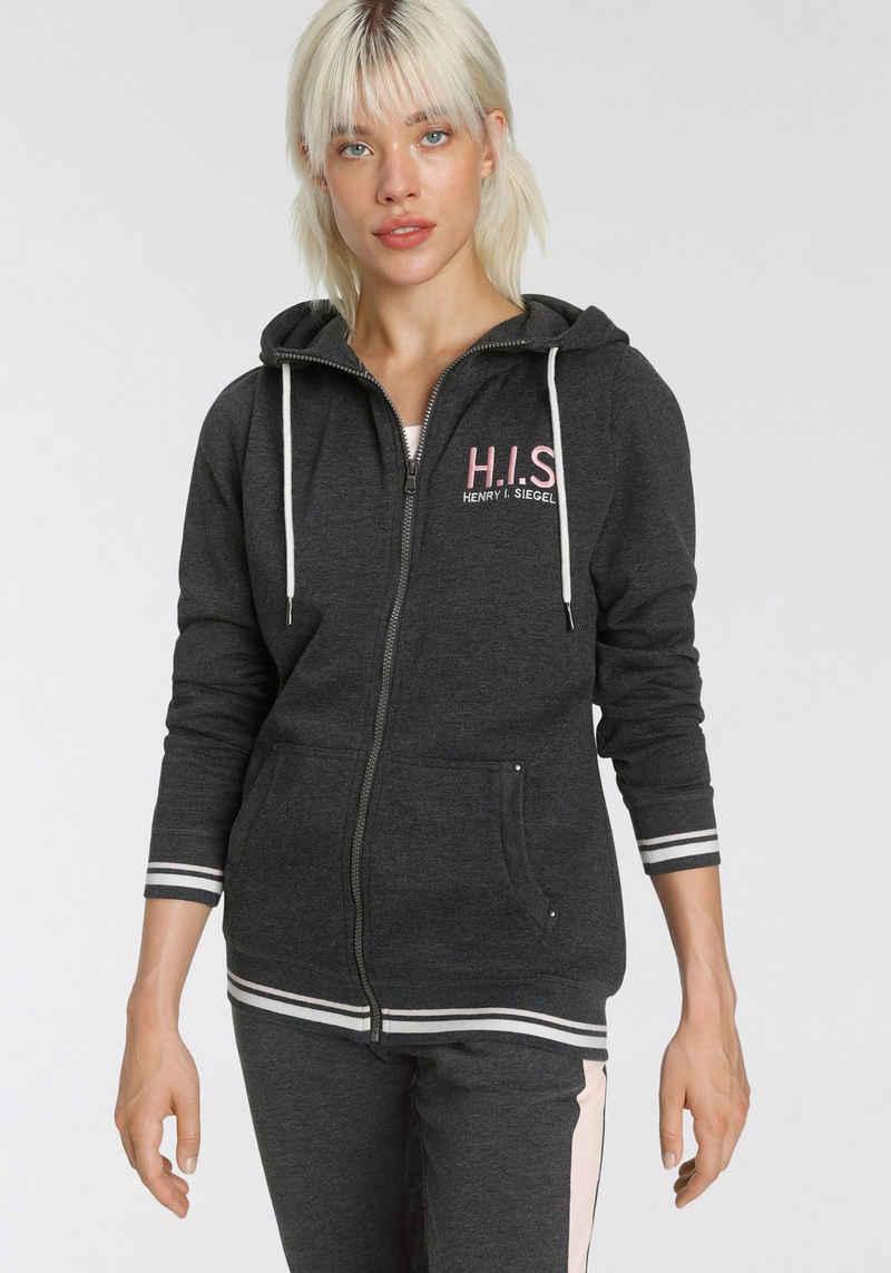 H.I.S Sweatjacke »Nachhaltig aus zertifizierter Bio-Baumwolle«