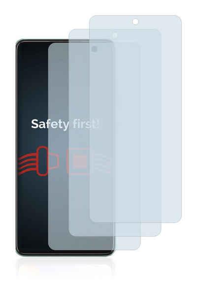 Savvies Schutzfolie »Panzerglas für Samsung Galaxy A52«, (3 Stück), Schutzglas Echtglas 9H klar