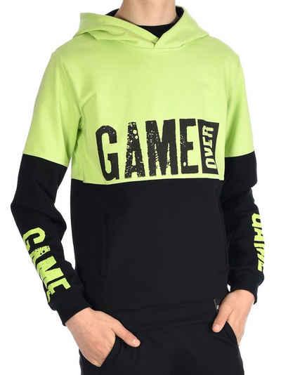 BEZLIT Hoodie »Jungen Kapuzen Pullover & GAME OVER Aufdruck« (1-tlg) Hoodie