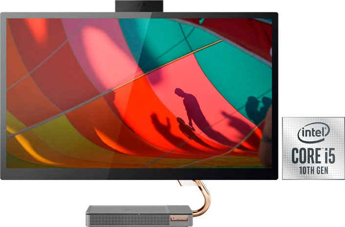 Lenovo All-in-One PC All-in-One PC (27 Zoll, Intel Core i5 10400T, GeForce GTX 1650, 16 GB RAM, 512 GB SSD)