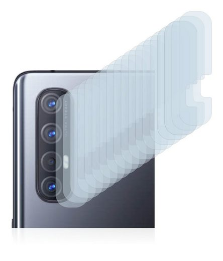 Savvies Schutzfolie »für Oppo Find X2 Neo (nur Kamera)«, (18 Stück), Folie Schutzfolie klar