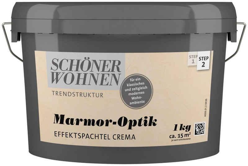 SCHÖNER WOHNEN-Kollektion Spachtelmasse »Marmoroptik Effektspachtel 1 kg crema«