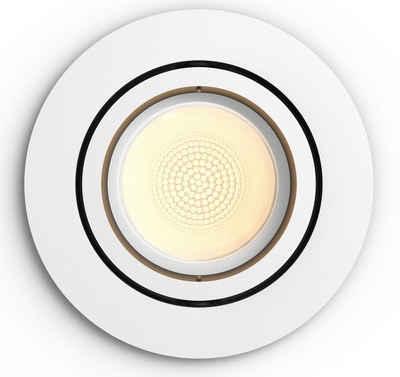 Philips Hue LED Einbaustrahler »White & Col. Amb. Centura rund weiß 350lm«
