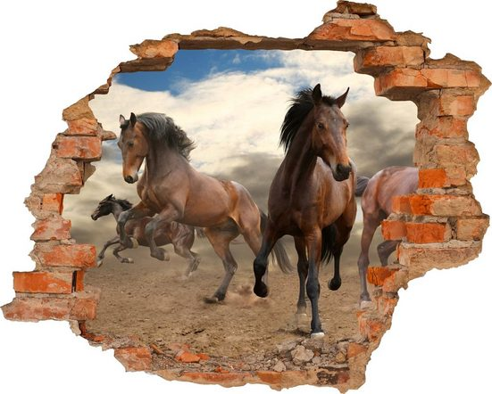 Conni Oberkircher´s Wandsticker »Horses«, selbstklebend
