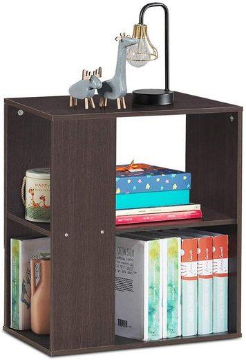 COSTWAY Beistelltisch »Bücherregal Couchtisch Nachttisch Sofatisch«, mit Ablage und Stauraum, für Wohnzimmer, Schlafzimmer