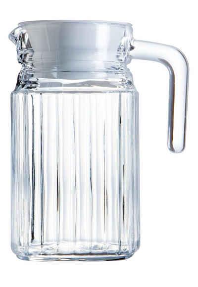 Luminarc Wasserkrug »Quadro«, Krug Kühlschrankkrug mit Deckel 500ml Glas transparent 1 Stück