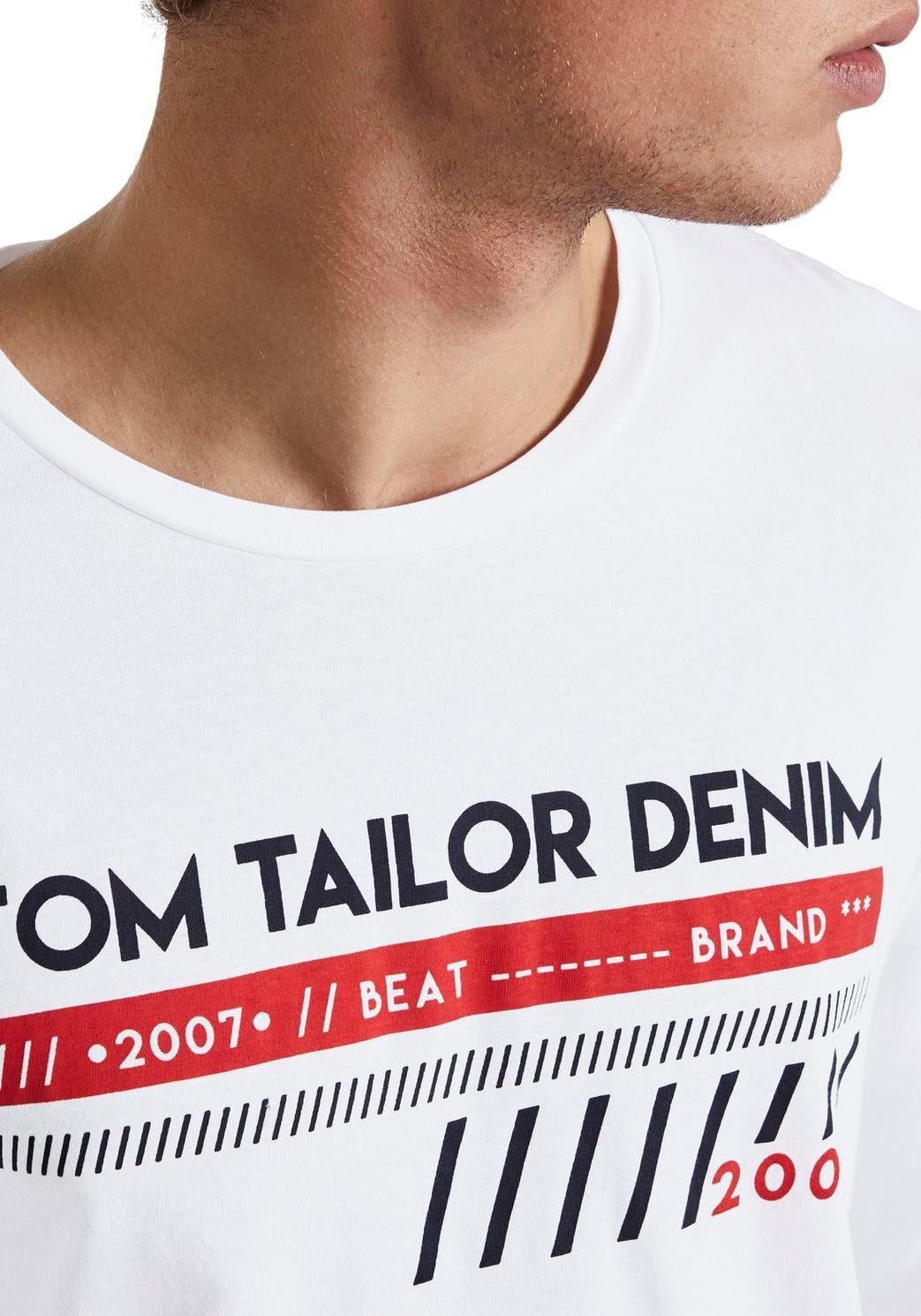 TOM TAILOR Denim Langarmshirt mit coolem Frontprint QChs2L