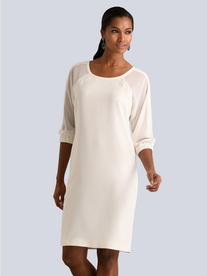 Festtagsmode - Alba Moda Kleid mit transparenten Chiffon Ärmeln › weiß  - Onlineshop OTTO