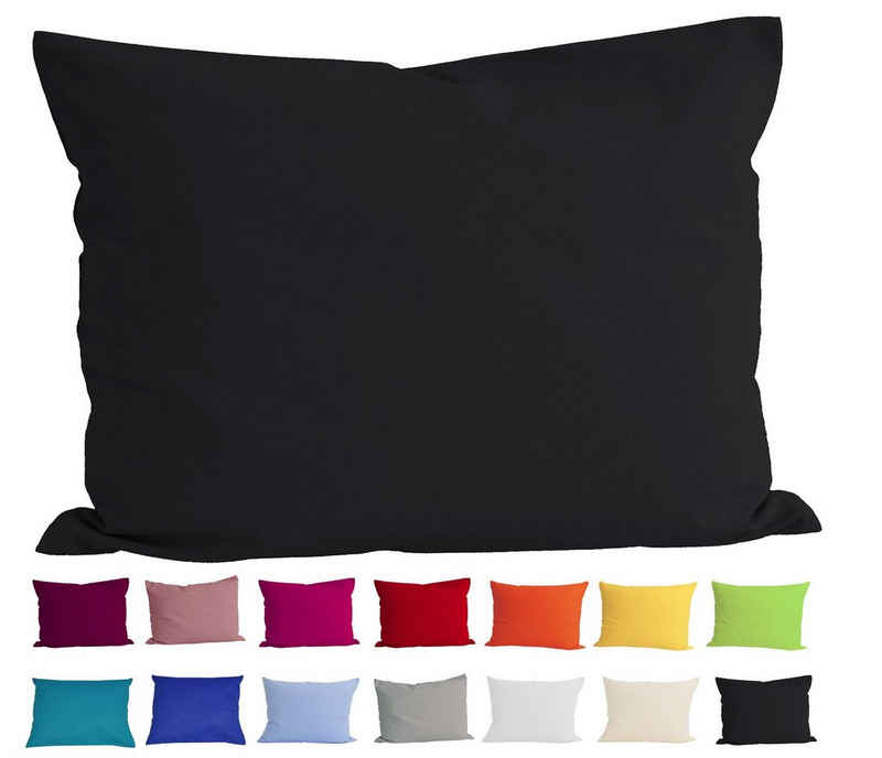 Kissenbezug »Basic«, beties, Kissenhülle ca. 40x60 cm 100% Baumwolle in vielen kräftigen Uni-Farben (schwarz)