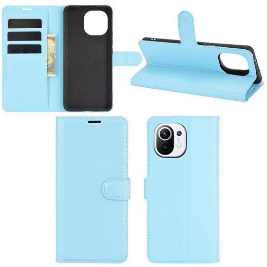 Wigento Handyhülle »Für Xiaomi Mi 11 Lite Handy Tasche Wallet Premium Schutz Hülle Case Cover Etuis Neu Zubehör«
