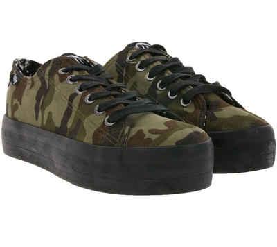 MTNG »mtng Plateau-Schuhe angesagte Damen Low Top Sneaker Skater-Schuhe Camouflage/Schwarz« Plateausneaker