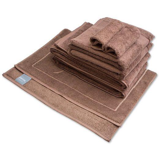 DESCAMPS Handtuch und Duschhandtuch 7 Teil in cacao