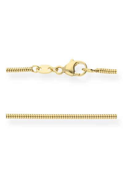 JuwelmaLux Goldkette »Halskette gold Damen und Herren Schlange« (1-tlg), 585er Gelbgold 14 Karat, inkl. Schmuckschachtel