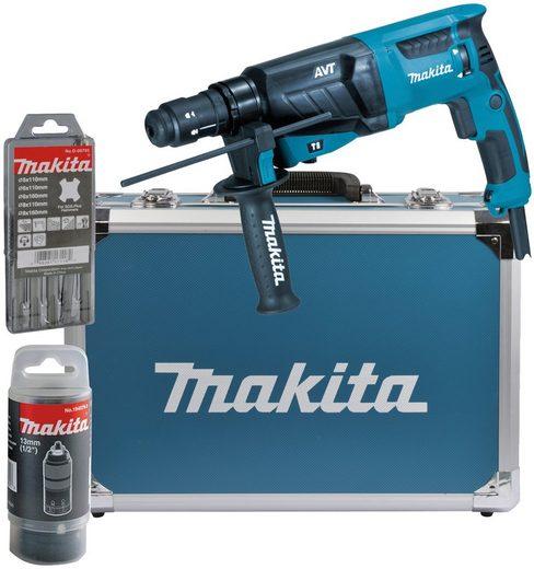 Makita Kombihammer »HR2631FT13«, max. 1200 U/min, (Set), für SDS-PLUS 26 mm im Alukoffer