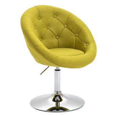 SVITA Chesterfield-Sessel »HAVANNA«, Retro-Design, mit pflegeleichtem Stoffbezug, kippsicherer Tellerfuß, Bezug des Sessels ist kapitoniert, stufenlos höhenverstellbar