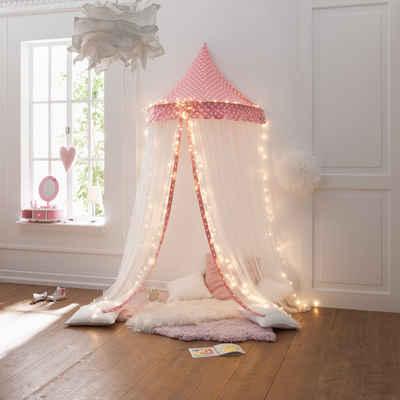 howa Betthimmel »Hannah«, Wand Baldachin für Kinderzimmer rosa / weiß