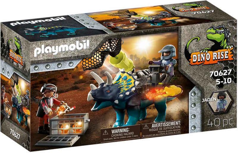 Playmobil® Konstruktions-Spielset »Triceratops - Verteidigung am Boden (70627), Dino Rise«, (40 St), Made in Europe