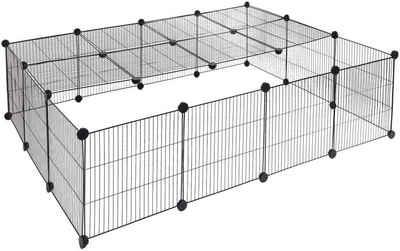 EUGAD Freigehege »0012WL«, Für Kaninchen Hasen Meerschweinchen Welpenauslauf 22 Platten Laufgitter 147x111x37cm