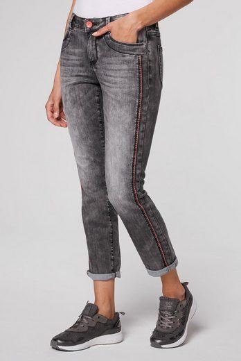 SOCCX Comfort-fit-Jeans mit Wrinkle-Effekte