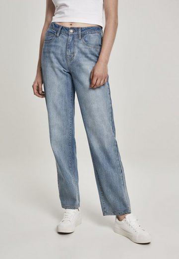 URBAN CLASSICS Bequeme Jeans »Ladies High Waist Straight Jeans«