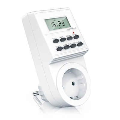 Arendo Zeitschaltuhr, digital, digitale Zeitschaltuhr Timer mit 1,5 Zoll LCD-Display - 3680W