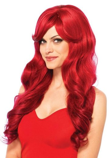 24costumes Kostüm »Long Wavy Wig - Groesse: O/S - Farbe: Grey«