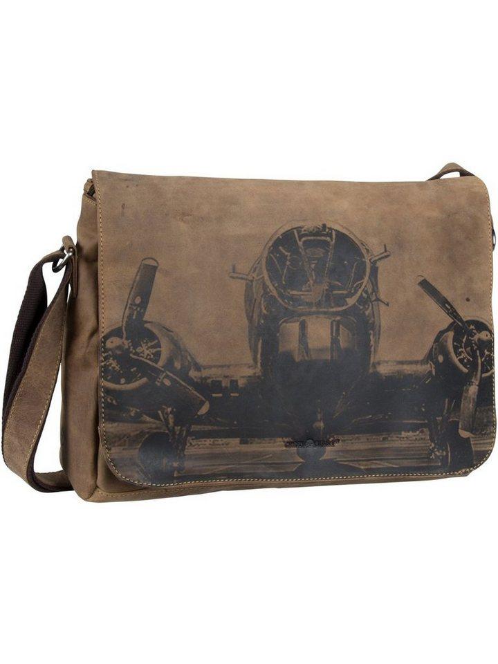 greenburry -  Laptoptasche »Vintage 1634 Kuriertasche XL RFID«, Messenger Bag