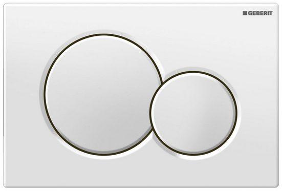 GEBERIT Betätigungsplatte »SIGMA 01«,2-Mengen-Spülung, 2-Mengen-Spülung, weiß