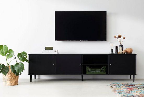 hammel Media-Board »MISTRAL«, Korpus und eine Tür mit Holzstruktur, zwei Türen mit Akustikstoff, Danish Design