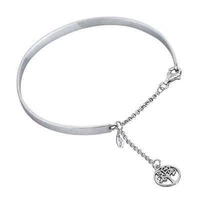 LOTUS SILVER Armreif »JLP1531-2-1 Lotus Silver Lebensbaum Armreif« (Armreifen), Armreifen für Damen 925 Sterling Silber, silber
